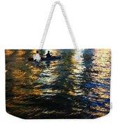 Night Kayak Ride Weekender Tote Bag by Margie Hurwich