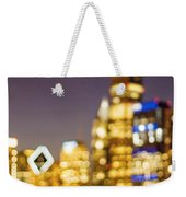 Night Lights - Abstract Chicago Skyline Weekender Tote Bag
