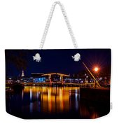 Night Lights On The Amsterdam Canals 1. Holland Weekender Tote Bag