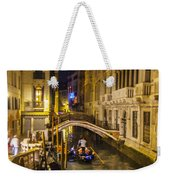 Night On The Canal - Venice - Italy Weekender Tote Bag
