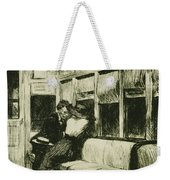 Night On The El Train Weekender Tote Bag