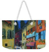 Night Street In Pula Weekender Tote Bag