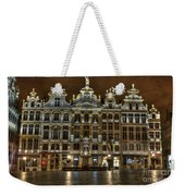 Night Time In Grand Place Weekender Tote Bag