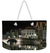 Night Time On The Canal Weekender Tote Bag