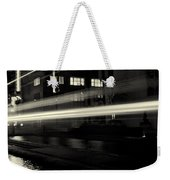 Night Train Black And White Weekender Tote Bag
