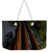 Night View Of Giant Sequoia Trees Weekender Tote Bag
