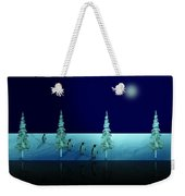 Night Walk Of The Penguins 2.5 Weekender Tote Bag