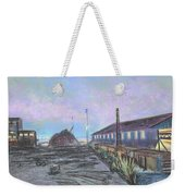 Nightfall On The Metal Mountain At Schnitzer Steel Weekender Tote Bag by Asha Carolyn Young