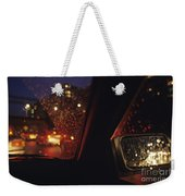 Nighttime Driving With City Lights Weekender Tote Bag