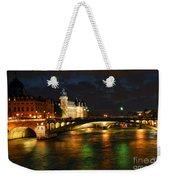 Nighttime Paris Weekender Tote Bag