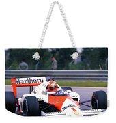 Niki Lauda. 1985 Portuguese Grand Prix Weekender Tote Bag