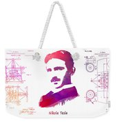 Nikola Tesla Patent Art Apparatus For Aerial Transportation  Weekender Tote Bag