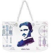 Nikola Tesla Patent Art Electric Arc Lamp Weekender Tote Bag