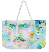 Nikola Tesla Watercolor Portrait Weekender Tote Bag