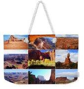 Nine Utah Landmarks Weekender Tote Bag by Catherine Sherman