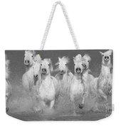 Nine White Horses Run Weekender Tote Bag