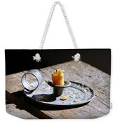 Nineteenth Century Candle And Holder Weekender Tote Bag