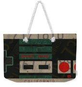 Nintendo Controller Vintage Video Game License Plate Art Weekender Tote Bag