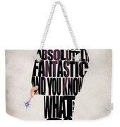 Ninth Doctor - Doctor Who Weekender Tote Bag by Ayse Deniz