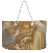 No. 1011 Study For The Bower Meadow Weekender Tote Bag by Dante Gabriel Charles Rossetti