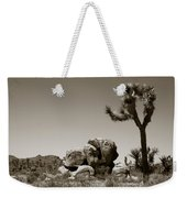 Joshua Tree National Park Landscape No 4 In Sepia  Weekender Tote Bag