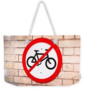 No Cycling Weekender Tote Bag