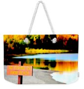 No Fishing On Swim Beach Weekender Tote Bag