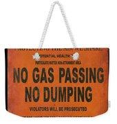 No Gas Passing Weekender Tote Bag