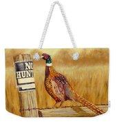 No Hunting   Pheasant Weekender Tote Bag