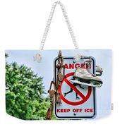 No Ice Skating Today Weekender Tote Bag