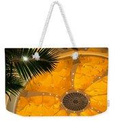 Sunshine Yellow Silk Decor With Stars Weekender Tote Bag