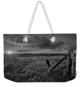 No Pass Black And White Weekender Tote Bag