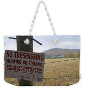 No Tresspassing Weekender Tote Bag