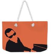 No003 My Ray Charles Minimal Music Poster Weekender Tote Bag