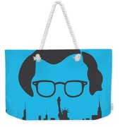 No146 My Manhattan Minimal Movie Poster Weekender Tote Bag by Chungkong Art