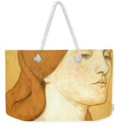 No.1575 Head Of A Girl In A Green Dress Weekender Tote Bag