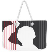 No185 My Psycho Minimal Movie Poster Weekender Tote Bag by Chungkong Art