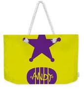 No190 My Toy Story Minimal Movie Poster Weekender Tote Bag by Chungkong Art