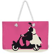 No205 My Roman Holiday Minimal Movie Poster Weekender Tote Bag by Chungkong Art