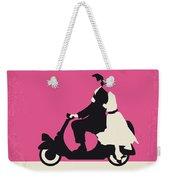 No205 My Roman Holiday Minimal Movie Poster Weekender Tote Bag