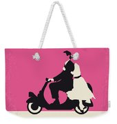 No205 My Roman Holiday Minimal Movie Poster Weekender Tote Bag