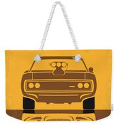 No207 My The Fast And The Furious Minimal Movie Poster Weekender Tote Bag by Chungkong Art