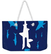 No216 My Sharknado Minimal Movie Poster Weekender Tote Bag