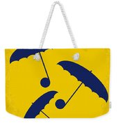 No254 My Singin In The Rain Minimal Movie Poster Weekender Tote Bag by Chungkong Art