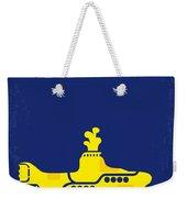 No257 My Yellow Submarine Minimal Movie Poster Weekender Tote Bag