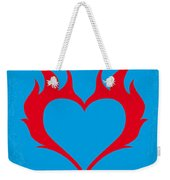 No337 My Wild At Heart Minimal Movie Poster Weekender Tote Bag
