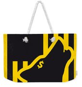No338 My Wolf Of Wallstreet Minimal Movie Poster Weekender Tote Bag