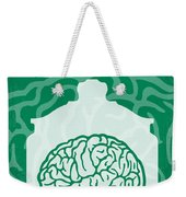 No390 My The Man With Two Brains Minimal Movie Poster Weekender Tote Bag