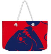 No433 My Piranha Minimal Movie Poster Weekender Tote Bag