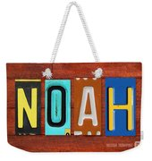 Noah License Plate Name Sign Fun Kid Room Decor. Weekender Tote Bag